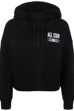 converse capuchontrui »all star brushed fleece« zwart