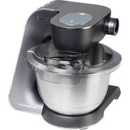 bosch keukenmachine home professional mum57860, 3,9 liter, mystic black - edelstaal-look zwart