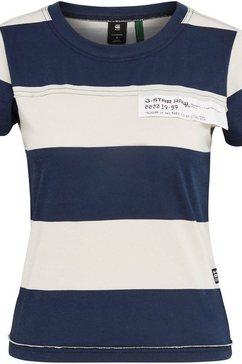 g-star raw poloshirt »slim fit wide stripe t-shirt« blauw