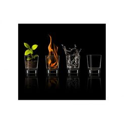 "wall-art kookplaatdeksel ""herdabdeckplatte four elements"", glas, (set) zwart"