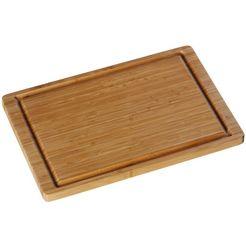 wmf snijplank van bamboe met sapgroef, aan beide kanten te gebruiken (1 stuk) beige