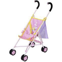 baby born poppenbuggy stroller met gaasvak paars