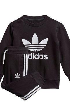 adidas originals joggingpak crew set (set, 2-delig) zwart