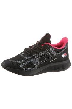 tommy sport sneakers met sleehak »ts pro 1 women« zwart