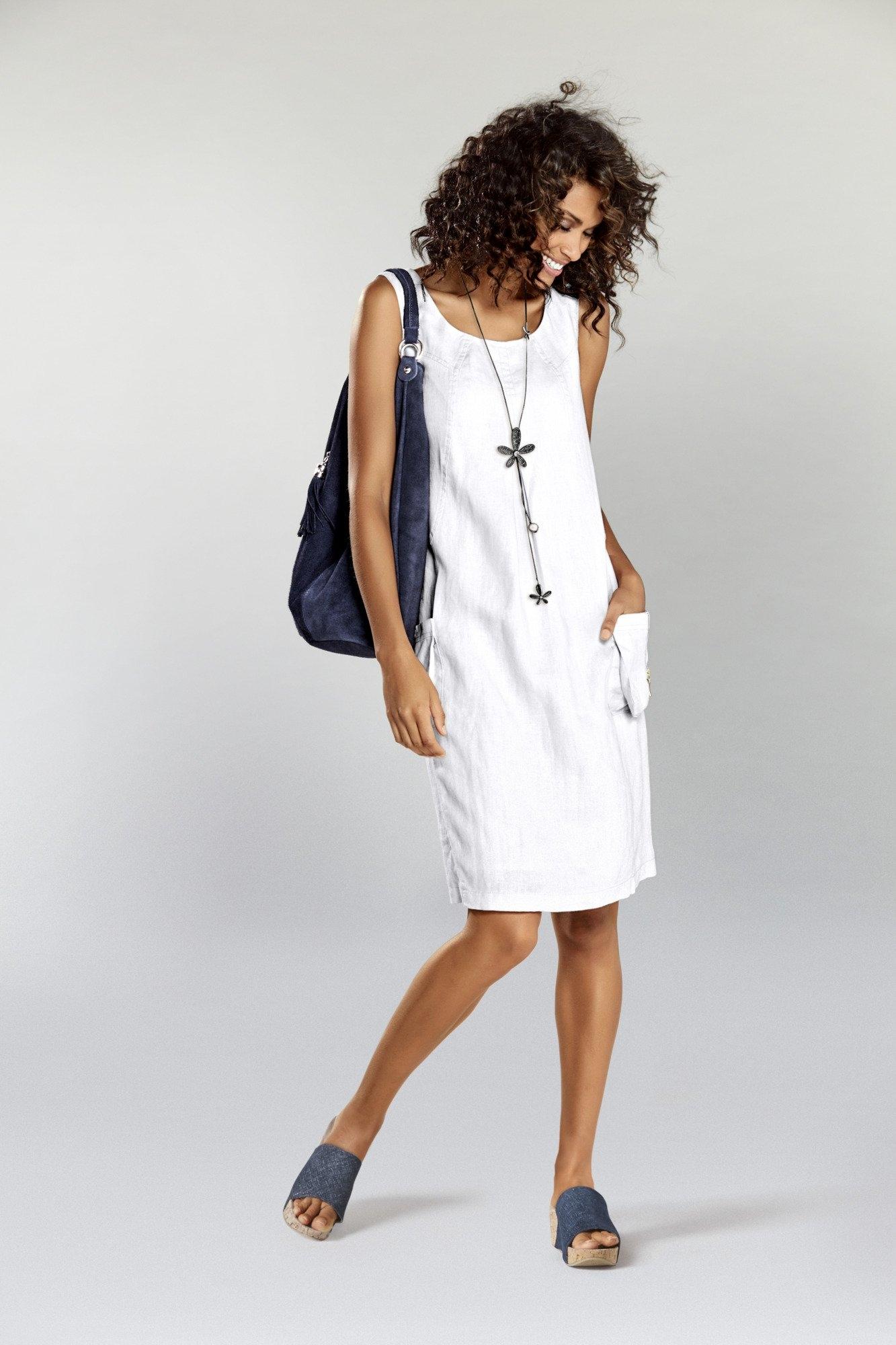 LINEA TESINI by Heine Linnen jurk nu online kopen bij OTTO