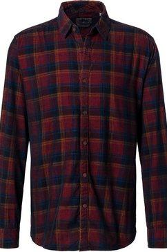 pioneer authentic jeans shirt »kariertes freizeithemd voor herren« rood