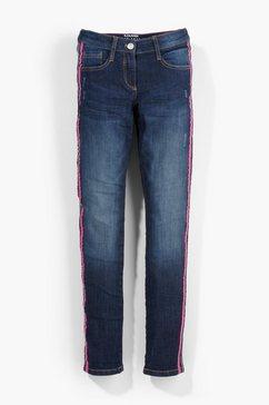 s.oliver junior skinny suri: jeans met garment wash voor meisjes blauw