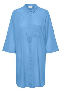 kaffe jurk met overhemdkraag »karona shirt« blauw