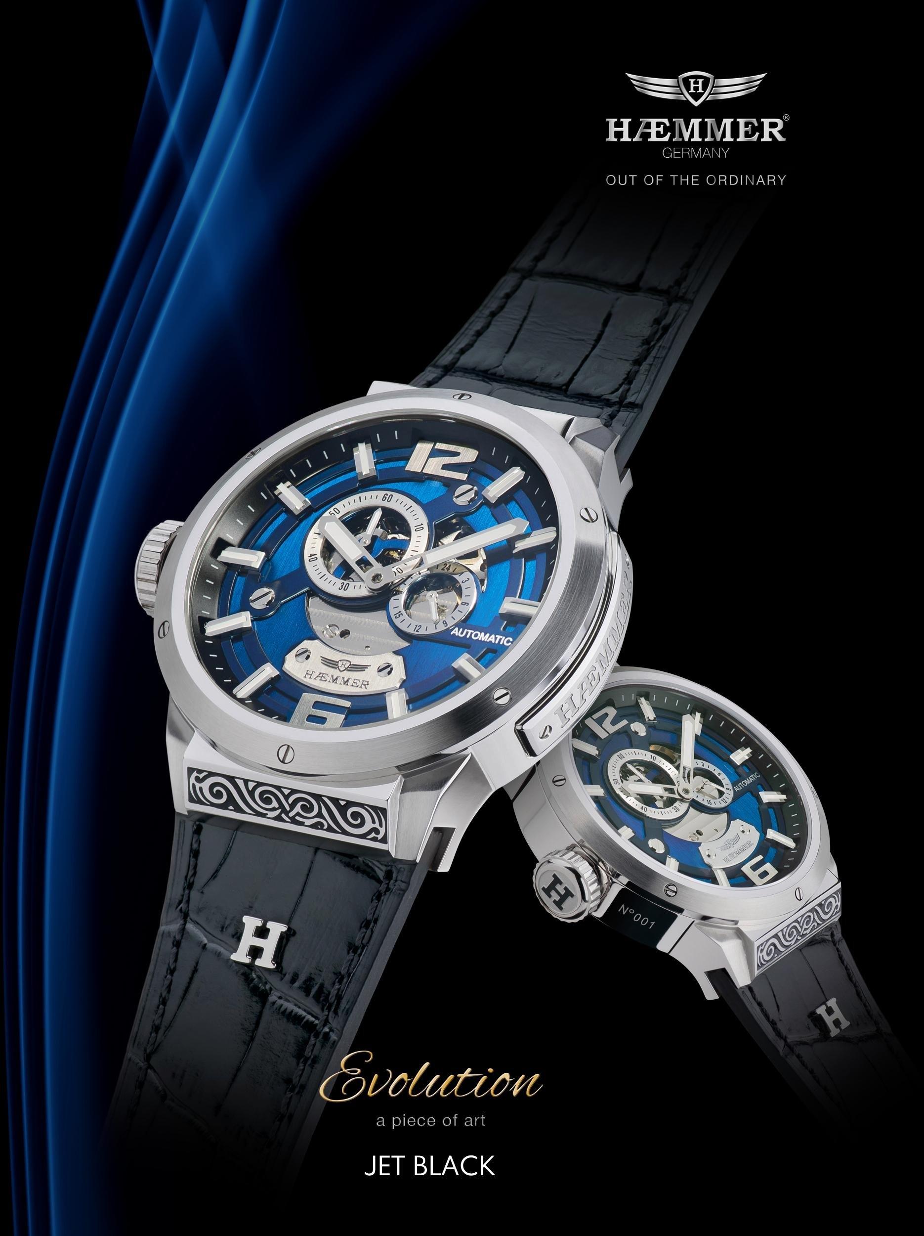 Haemmer Germany automatisch horloge »JET BLACK, GG-100« online kopen op otto.nl