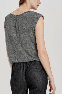 opus shirt met ronde hals »strolchi sketch« zwart