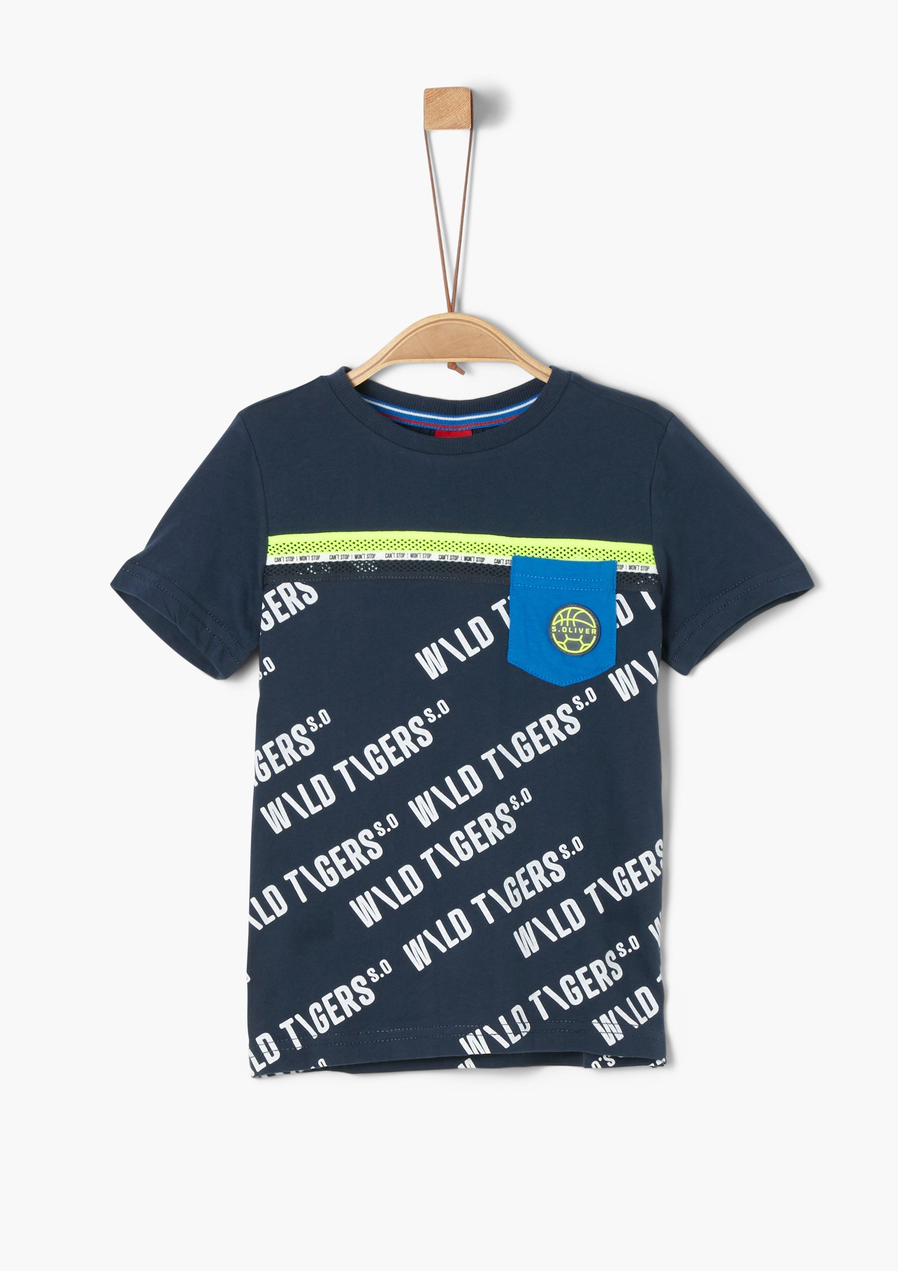 s.Oliver RED LABEL s.Oliver Junior T-shirt met print voor jongens - verschillende betaalmethodes