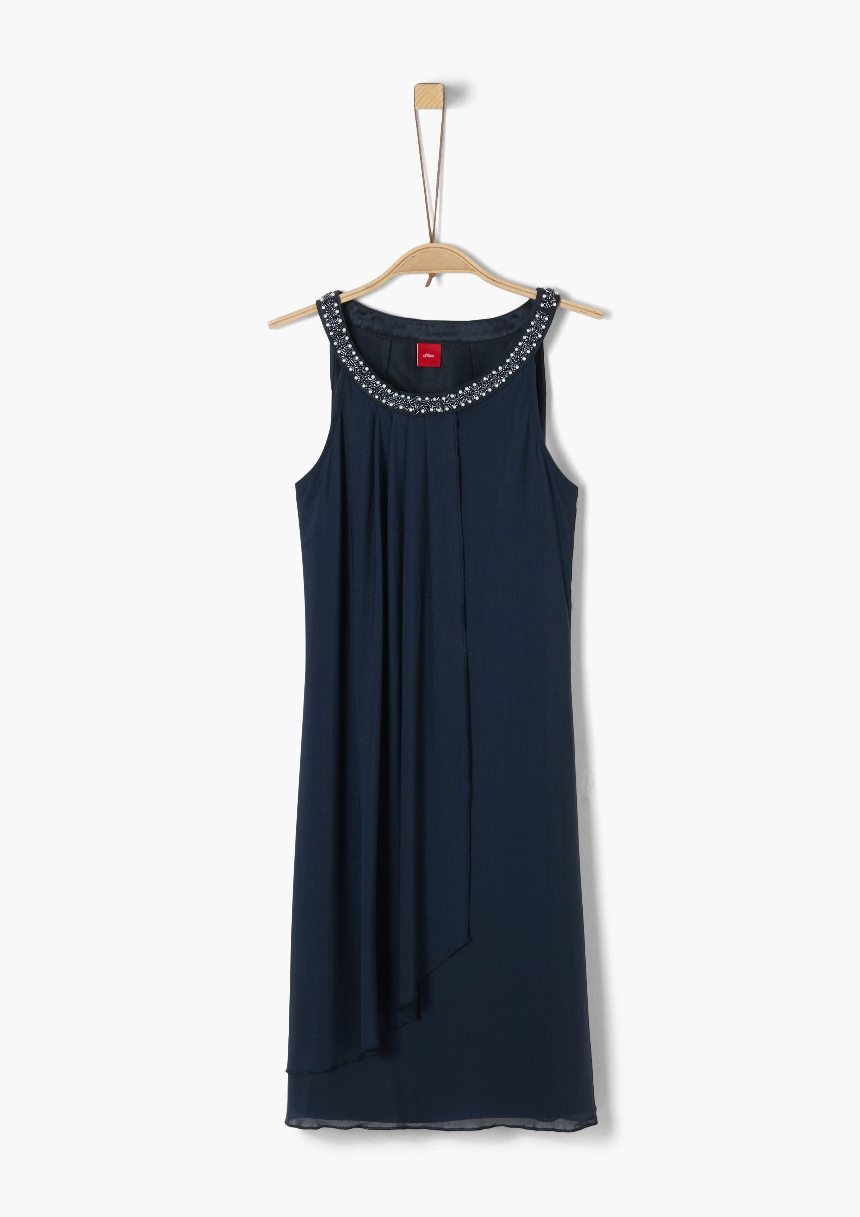 s.Oliver Junior Cold-shoulder jurk met motief voor meisjes - verschillende betaalmethodes