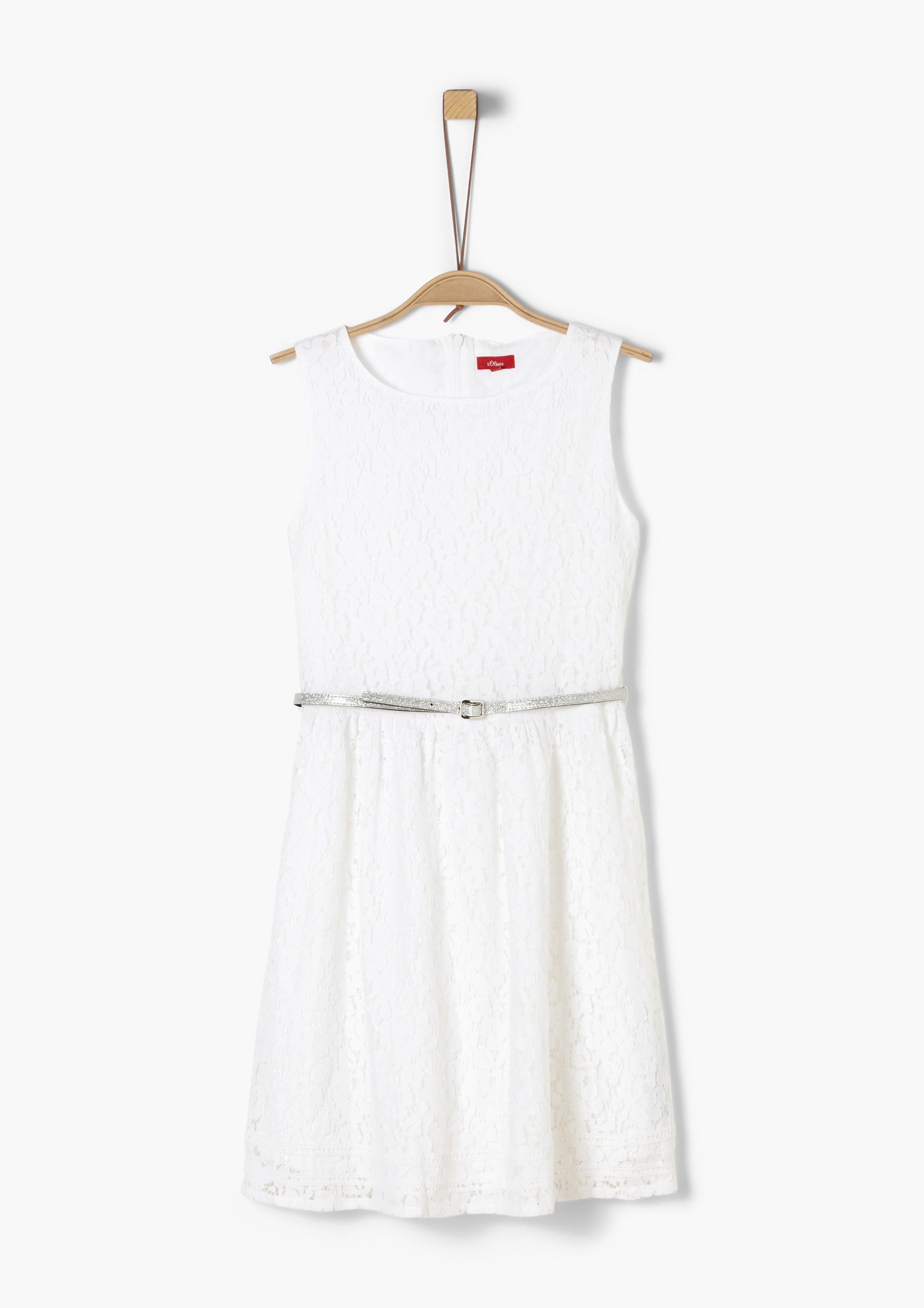 s.Oliver Junior Cold-shoulder jurk met motief voor meisjes bestellen: 30 dagen bedenktijd