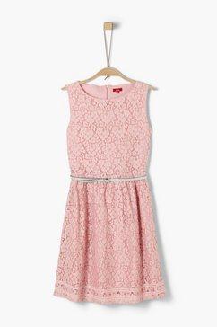 s.oliver junior cold-shoulder jurk met motief voor meisjes rood