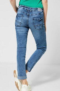 cecil slim fit jeans »scarlett« blauw