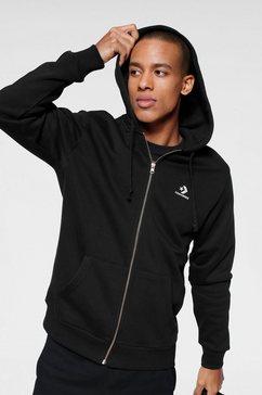 converse capuchonsweatvest »embroidered star chevron full zip hoodie bb« zwart