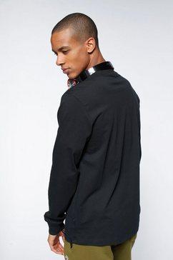 converse shirt met lange mouwen »mens embroidered star chevron left chest long sleeve tee« zwart