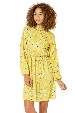 sublevel jurk in a-lijn geel