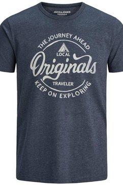 jack  jones t-shirt »namen tee« blauw