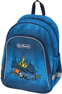 herlitz kinderrugzak »motivrucksack race car« blauw
