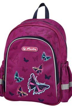 herlitz kinderrugzak »motivrucksack butterfly« roze