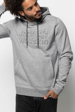 jack wolfskin hoodie »logo hoody m« grijs