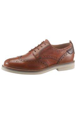 la martina schoenen met budapest-perforatie »buttero mogano plutone« bruin
