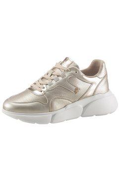 la martina sneakers met sleehak goud