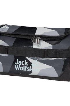 jack wolfskin toilettas »expedition wash bag« grijs