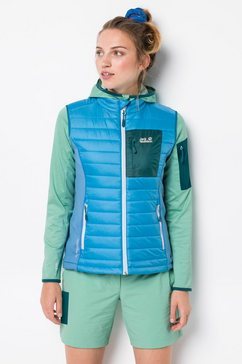 jack wolfskin bodywarmer »routeburn vest w« blauw