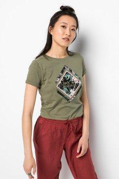 jack wolfskin t-shirt »tropical square t w« groen