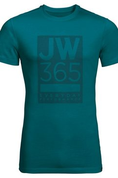 jack wolfskin t-shirt »365 t m« groen