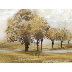 olieverfschilderij »trees« bruin