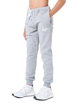 hype joggingbroek »jungen mit logo-schriftzug« grijs