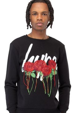 hype sweatshirt »herren rose script sweater« zwart