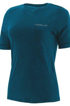 caterpillar t-shirt »damen mit kurzen 3-4-aermeln« groen