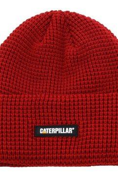 caterpillar beanie »unisex grid watch muetze« rood