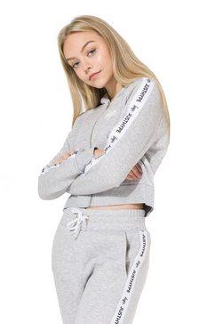 hype capuchontrui »maedchen crop-hoodie just hype« grijs