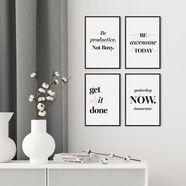 artprint »get shit done - premium poster 4er set« wit
