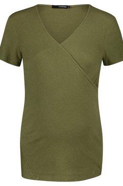 supermom voedings t-shirt »crossed rib« groen