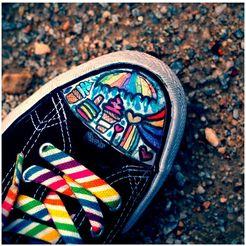 art  pleasure artprint op acrylglas »crazy sneaker« multicolor