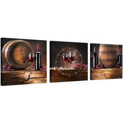 conni oberkircher´s wanddecoratie »wine barrels« multicolor