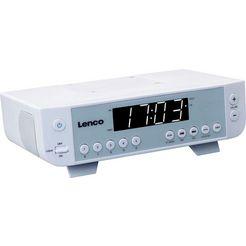 lenco keuken-radio »kcr-11« (fm-tuner) wit