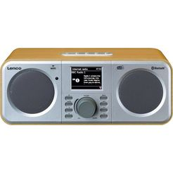 lenco radio »dir-140« radio (internetradio,digitalradio (dab+),fm-tuner, 6 watt) beige