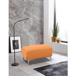 places of style hocker akron modern design in twee stofkwaliteiten geel