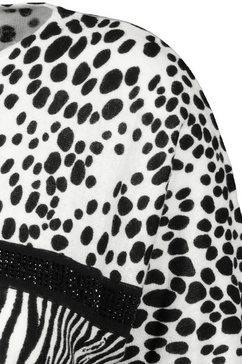 monari trui met 3-4-mouwen zwart