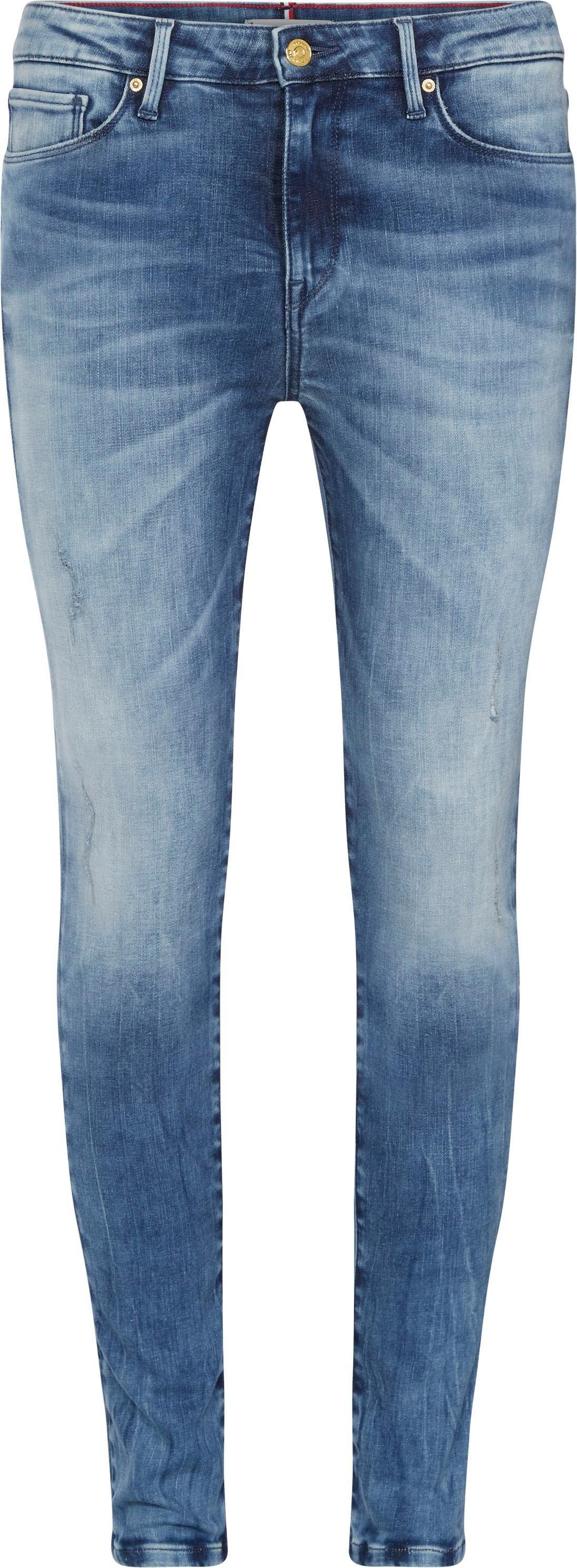 TOMMY HILFIGER skinny fit jeans »HERITAGE COMO SKINNY RW« nu online bestellen