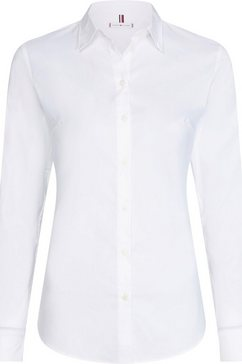 tommy hilfiger overhemdblouse »heritage slim fit shirt« wit