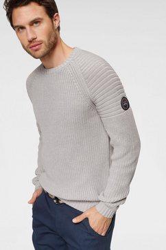 rhode island trui met ronde hals grijs