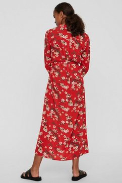 vero moda jurk met overhemdkraag »vmsimply easy long shirt dress« rood